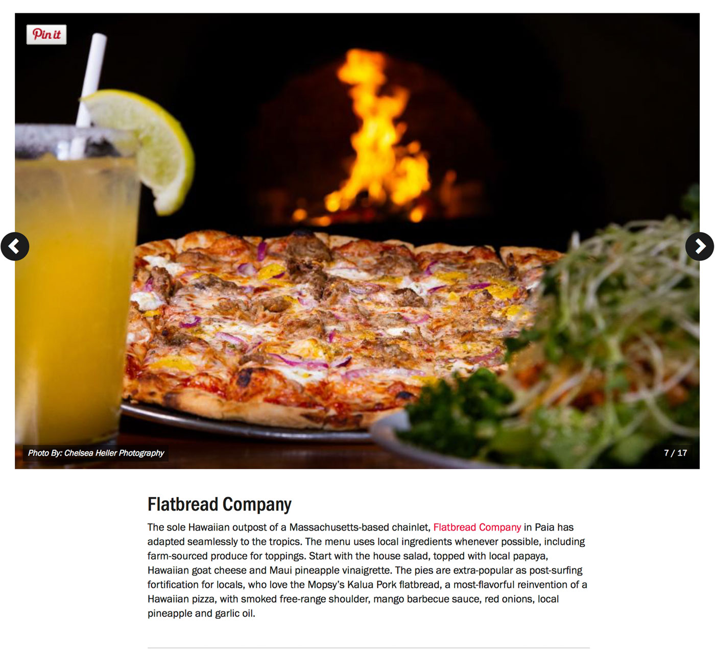 "Screenshot from Food Network's Guide to:<br><a href=""https://www.foodnetwork.com/restaurants/photos/restaurant-guide-maui"" target=""_blank"" rel=""noopener noreferrer"">""The Best Restaurants on Maui""</a> - Flatbread Company.</br>"