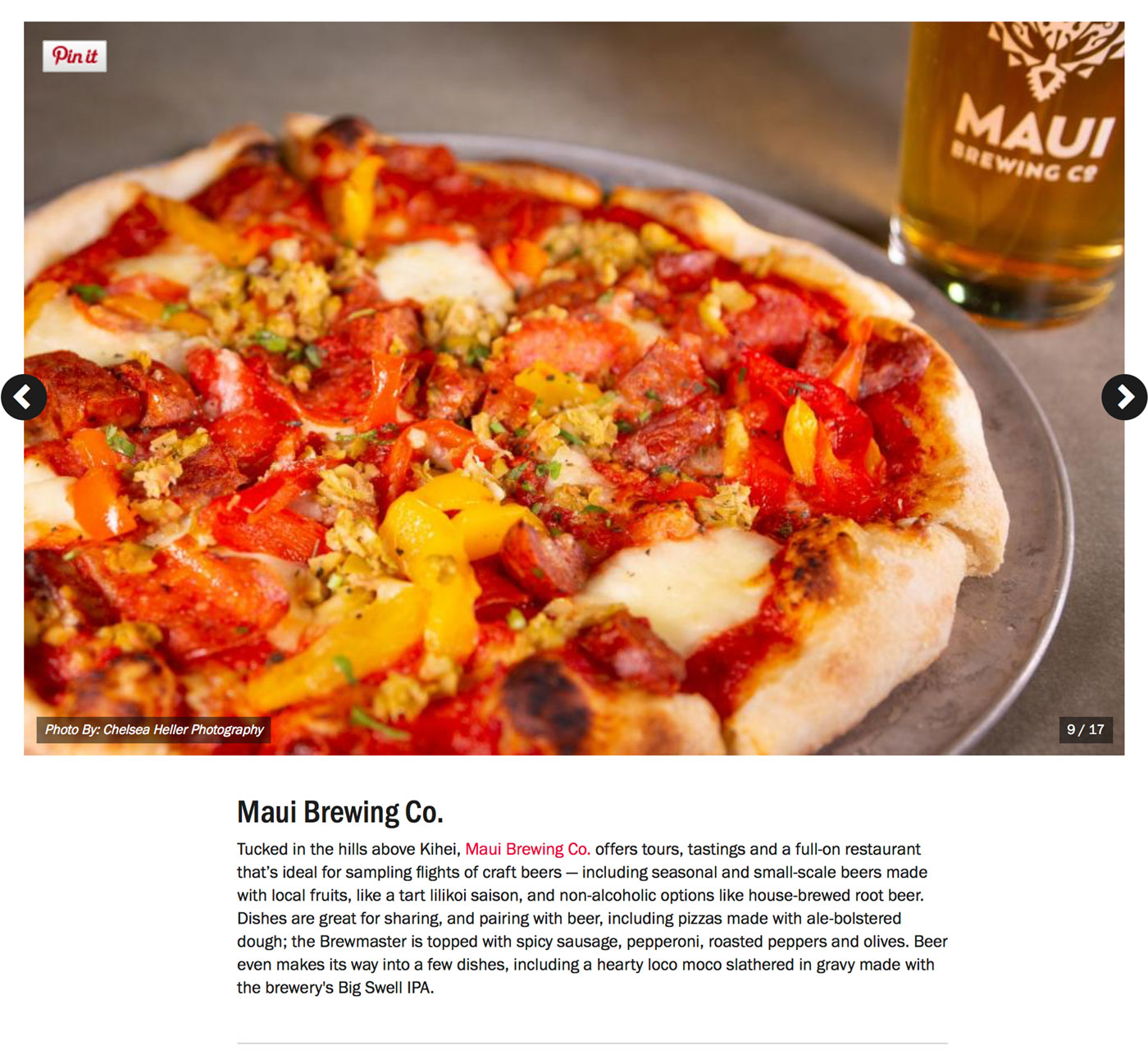 "Screenshot from Food Network's Guide to:<br><a href=""https://www.foodnetwork.com/restaurants/photos/restaurant-guide-maui"" target=""_blank"" rel=""noopener noreferrer"">""The Best Restaurants on Maui""</a> - Maui Brewing Co.</br>"