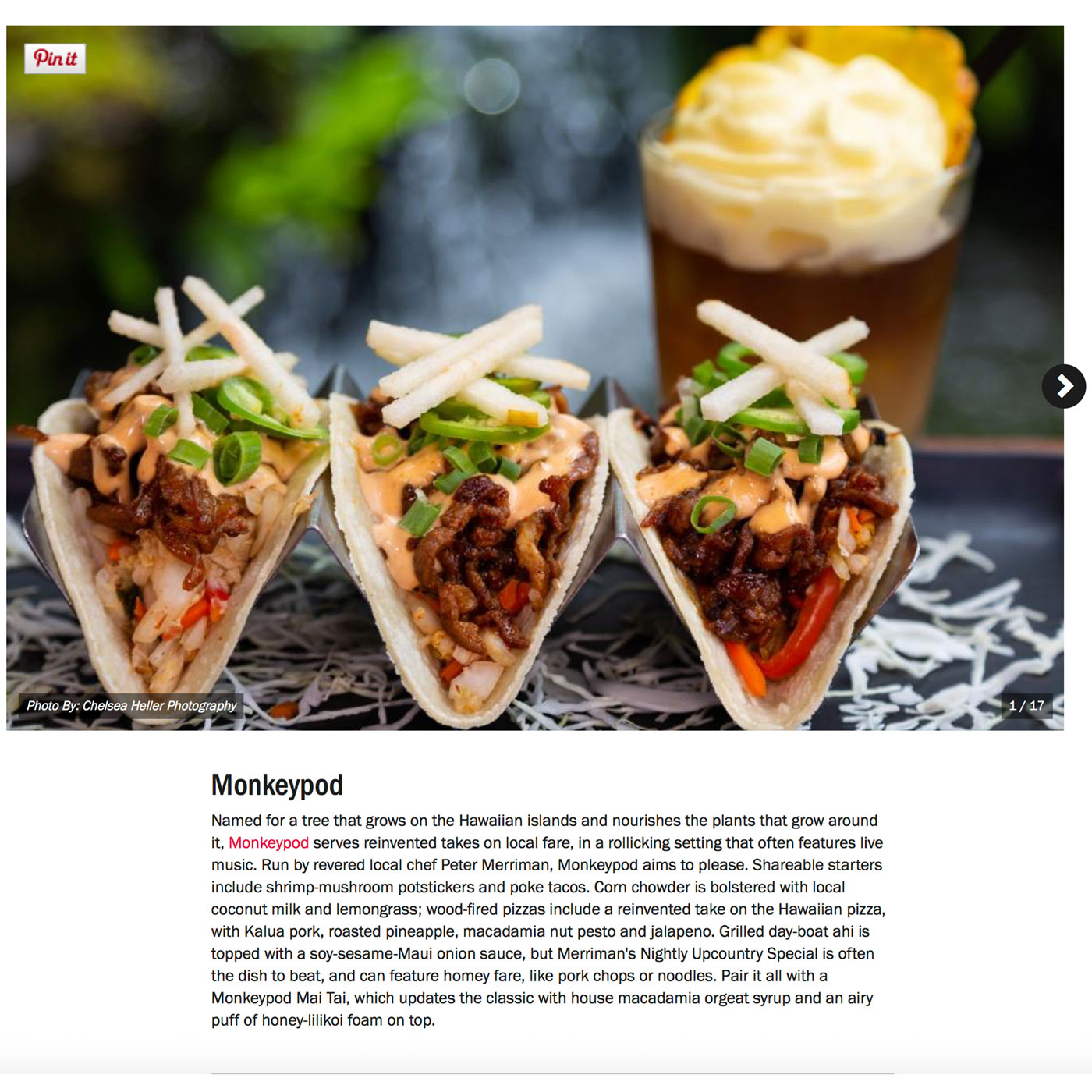"Screenshot from Food Network's Guide to:<br><a href=""https://www.foodnetwork.com/restaurants/photos/restaurant-guide-maui"" target=""_blank"" rel=""noopener noreferrer"">""The Best Restaurants on Maui""</a> - Monkeypod.</br>"