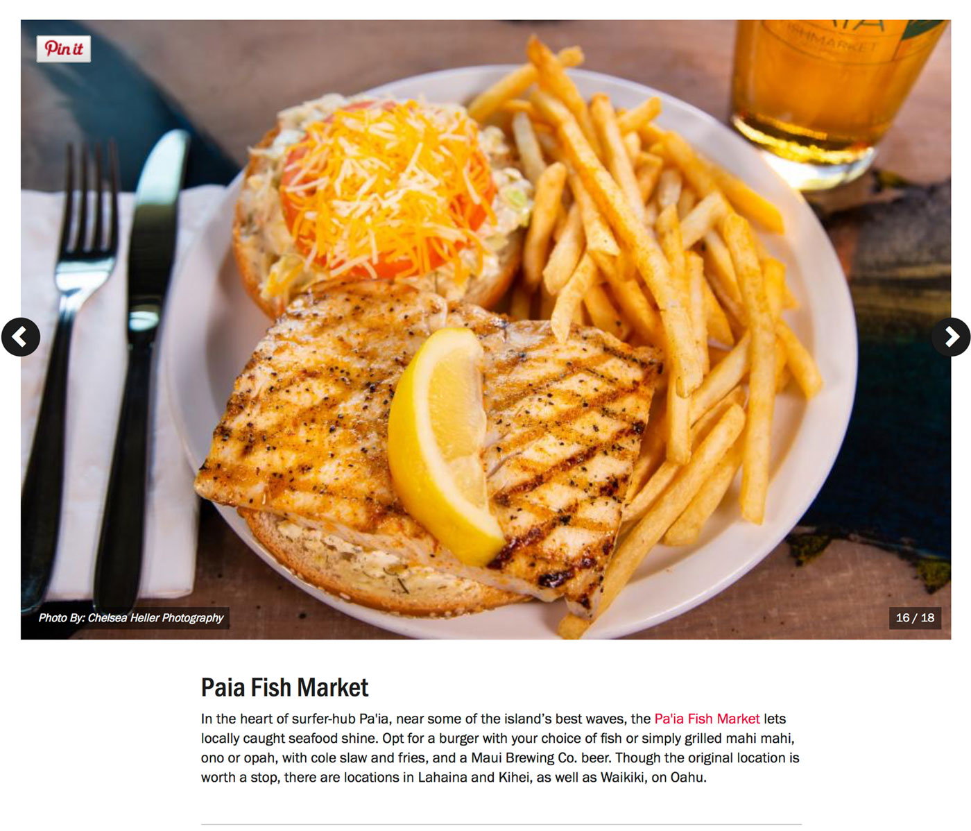 "Screenshot from Food Network's Guide to:<br><a href=""https://www.foodnetwork.com/restaurants/photos/restaurant-guide-maui"" target=""_blank"" rel=""noopener noreferrer"">""The Best Restaurants on Maui""</a> - Paia Fish Market.</br>"