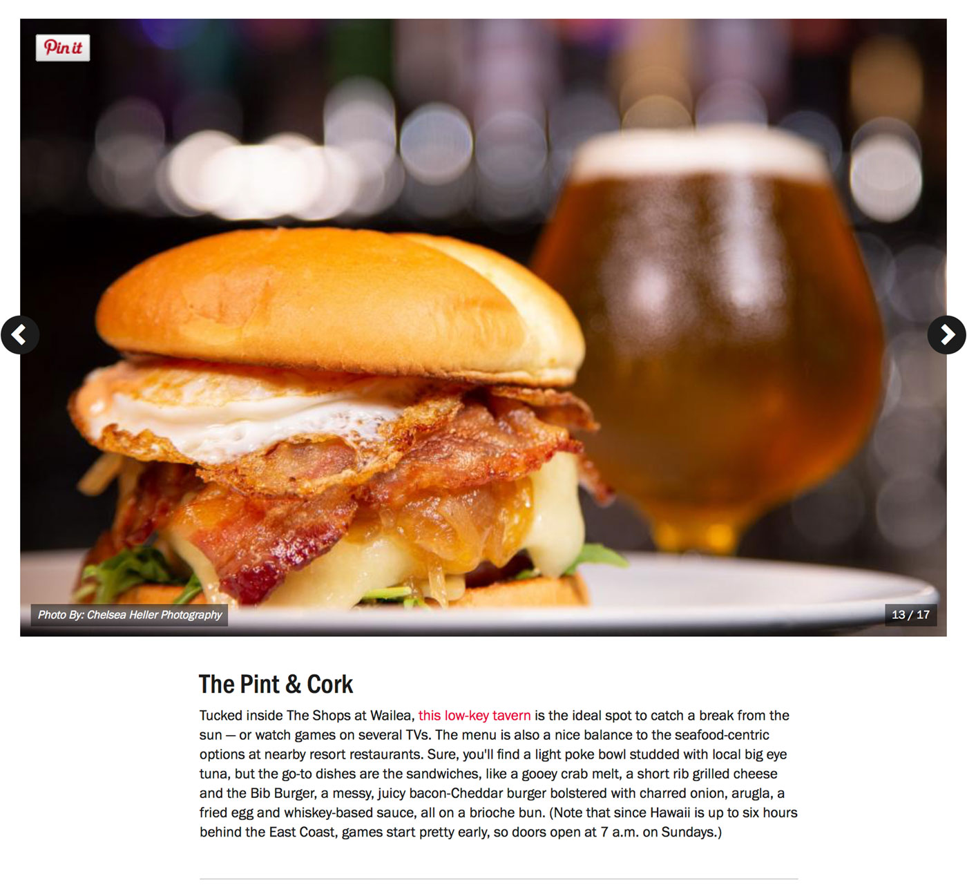 "Screenshot from Food Network's Guide to:<br><a href=""https://www.foodnetwork.com/restaurants/photos/restaurant-guide-maui"" target=""_blank"" rel=""noopener noreferrer"">""The Best Restaurants on Maui""</a> - The Pint & Cork.</br>"